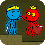 Red and Blue Stickman Animation Parkour